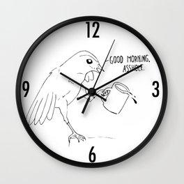 Good Morning Bird Wall Clock
