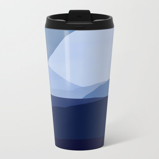 Blue C. Montains Metal Travel Mug