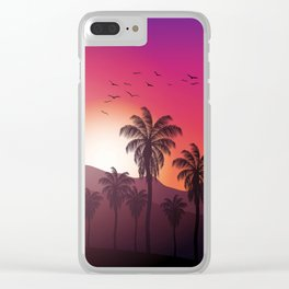 Festival Inspired Sunset Clear iPhone Case