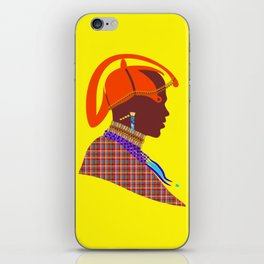 massai warrior african art kenyan man graphic design iPhone Skin