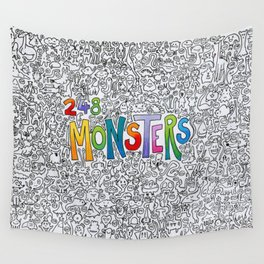 248 monsters Wall Tapestry
