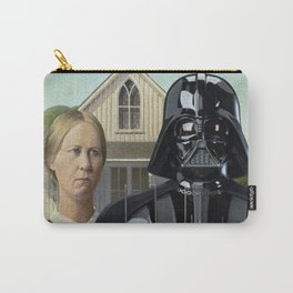 Darth Vader in American Gothic Carry-All Pouch