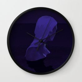 The Woman of the Midnight Bath Wall Clock