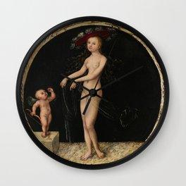 "Lucas Cranach the Elder ""Venus and Cupid"" Wall Clock"
