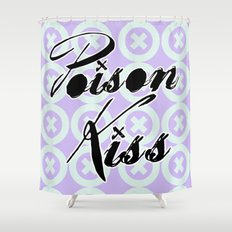 POISON KISS LOGO - LIGHT VIOLET THEME Shower Curtain