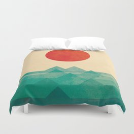 The ocean, the sea, the wave Duvet Cover