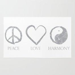 Peace  love  harmon Rug