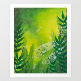 Kelp Eels Art Print