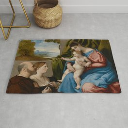 Lorenzo Lotto - Madonna and Child with Two Donors Rug