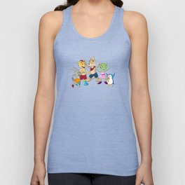 Ooboo and friends Characters Unisex Tank Top