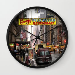 Carnegie Deli Mug Wall Clock
