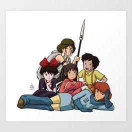 The Ghibli Club Art Print
