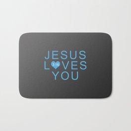 Jesus Loves You!!! Bath Mat