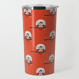 big eyed halloween owl Travel Mug