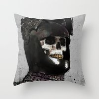 medieval Throw Pillows featuring Medieval Knight by Ed Pires