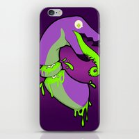 gore iPhone & iPod Skins featuring Techno bird gore by bladedcrow