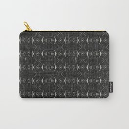 Charcoal Textured Ethnic Tribal Print Carry-All Pouch