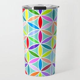 Flower of Life Large Pattern – Multicoloured Travel Mug