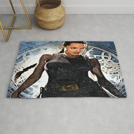 Angelina Jolie as Lara Croft Rug