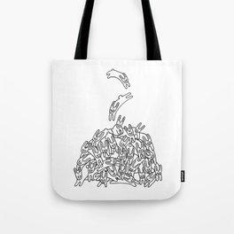 Pile of Rabbits Tote Bag