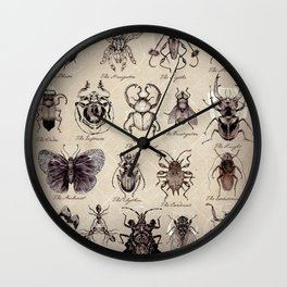 Insectonomicon Wall Clock