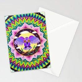 Magical Owl Mandala Stationery Cards