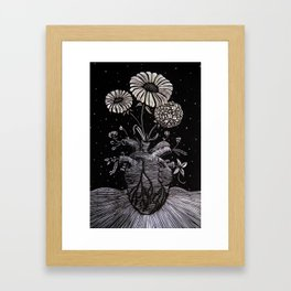 Flowers From Within. Framed Art Print