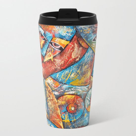 Art Women Metal Travel Mug