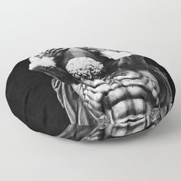 Hercules holding the whole world Floor Pillow