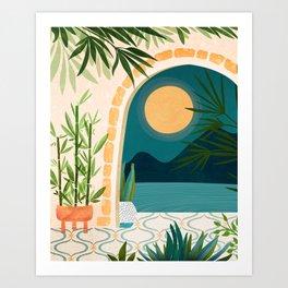 Full Moon Rising / Night Landscape Art Print
