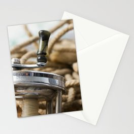 Vintage Fishing Reel 1 Stationery Cards