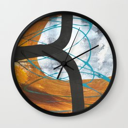 Moon and Moon 3 Wall Clock