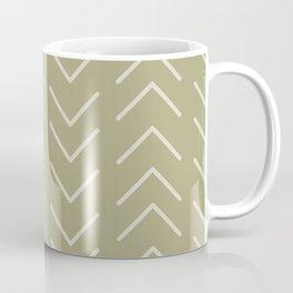 Mudcloth Olive Green Coffee Mug