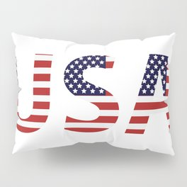 word United States of America Pillow Sham