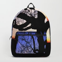 Darkness Against Sunset Backpack