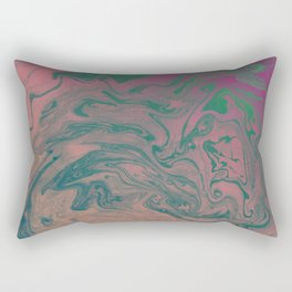 Pink Neon Marble - Earth Gum #nature #planet #marble Rectangular Pillow