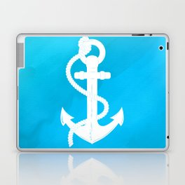 White Anchor Laptop & iPad Skin