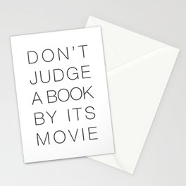 Don't Judge a Book By its Movie Stationery Cards