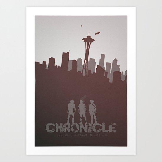 Chronicle (2012) minimal poster Art Print