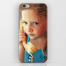 The Confidante - painting of a young girl on the phone iPhone & iPod Skin