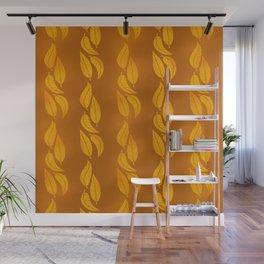Autumn Orange Tangerine Leaves  Wall Mural