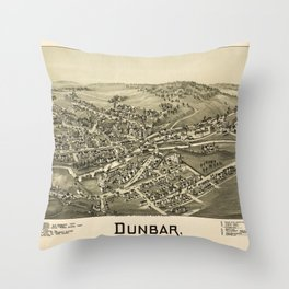 Aerial View of Dunbar, Pennsylvania (1900) Throw Pillow