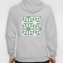 Spring geomentric concrete tiles pattern sage green Hoody
