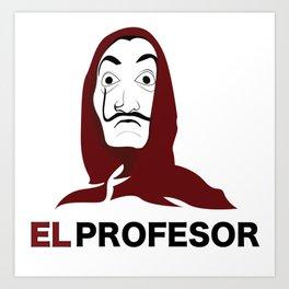 LA CASA DE PAPEL tee shirt El Profesor Art Print