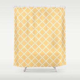 Criss Cross Yellow Shower Curtain