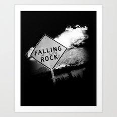 Falling (in love) Rocks Art Print