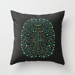 Brain Tech Throw Pillow