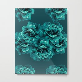 Turquoise Peony Flower Bouquet #1 #floral #decor #art #society6 Metal Print