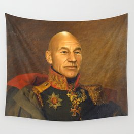 Sir Patrick Stewart - replaceface Wall Tapestry