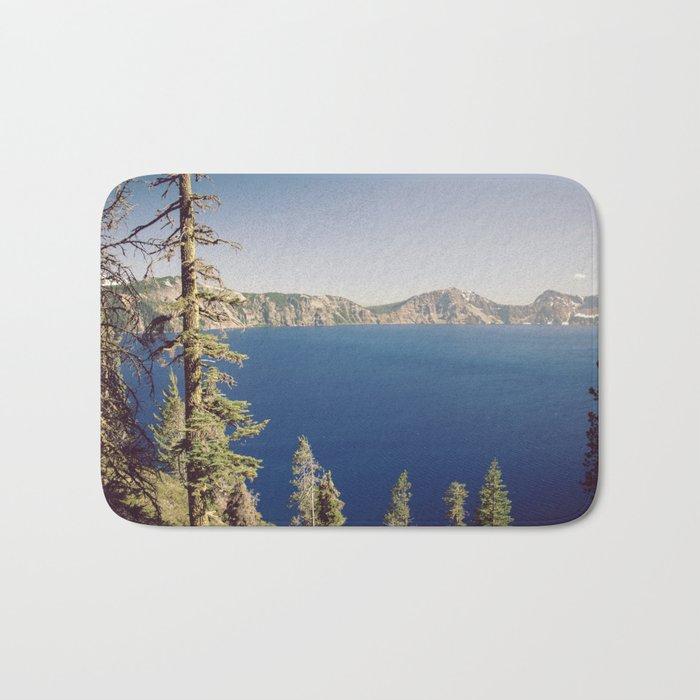 Beautiful Blue Crater Lake Bath Mat